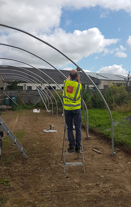 Newcastle Community Composting Polytunnel