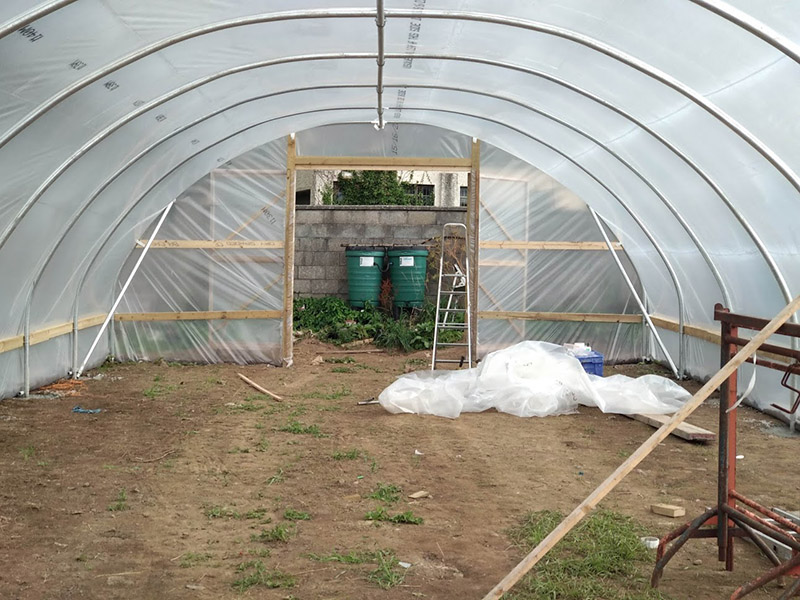 Newcastle Community Composting Group Poly Tunnel