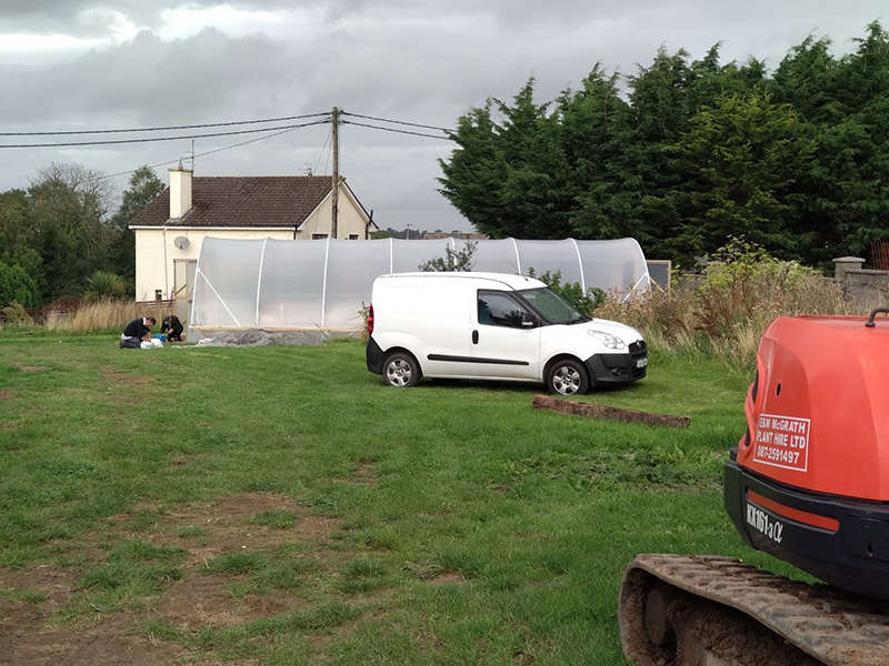 Newcastle Community Composting Group Poly Tunnel Erection