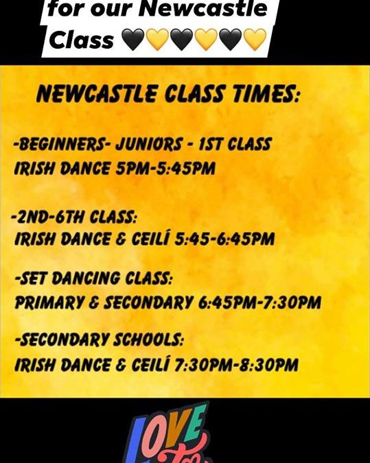 Irish Dance Class will resume in Newcastle