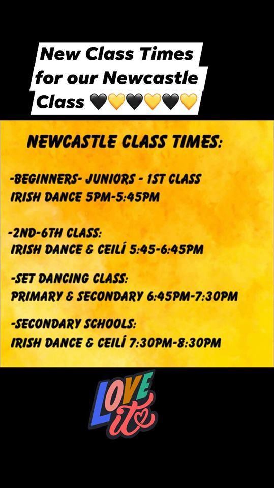 Newcastle Irish Dance Classes Sept 2019