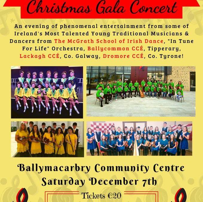 Caisleán Nua CCE – Christmas Gala Concert Saturday 7th December 2019
