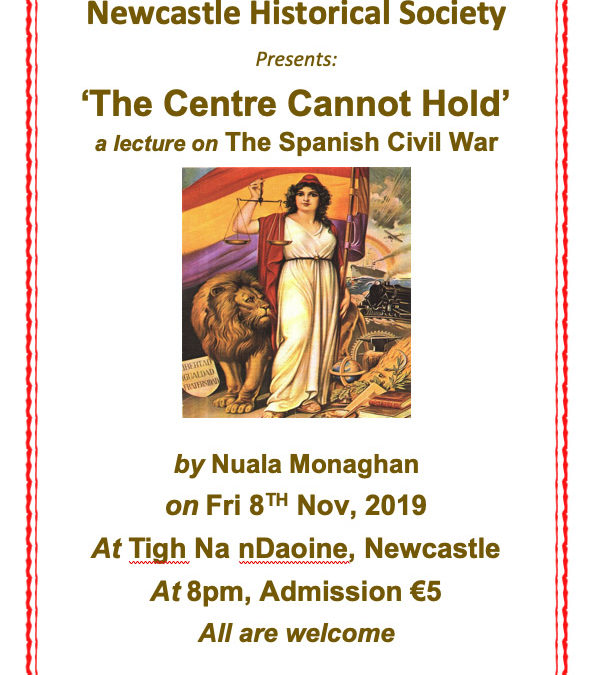 Newcastle Historical Society – a lecture on The Spanish Civil War