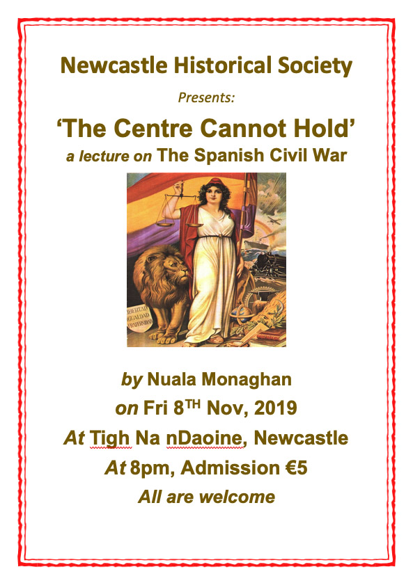 Newcastle Historical Society Lecture on Spanish Civil War