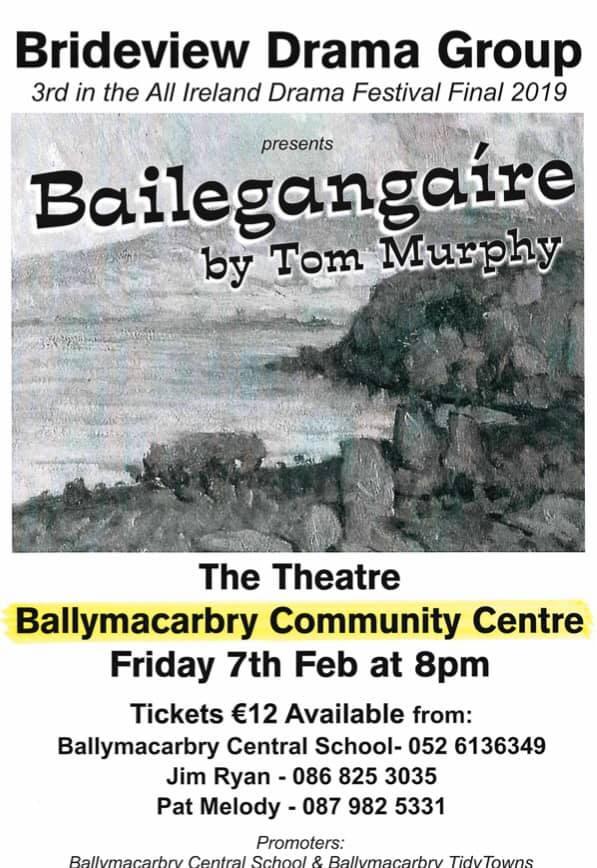 Ballymacarbry Fund Raising Drama 7th Feb 2020