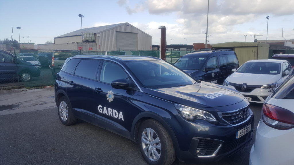 Garda Vehicle in carpark