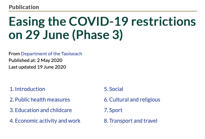 Easing the COVID-19 restrictions on 29 June (Phase 3)