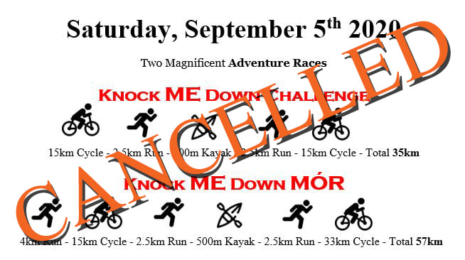 Knock ME Down Challenge 2020 – 5th Sept 2020 – CANCELLED