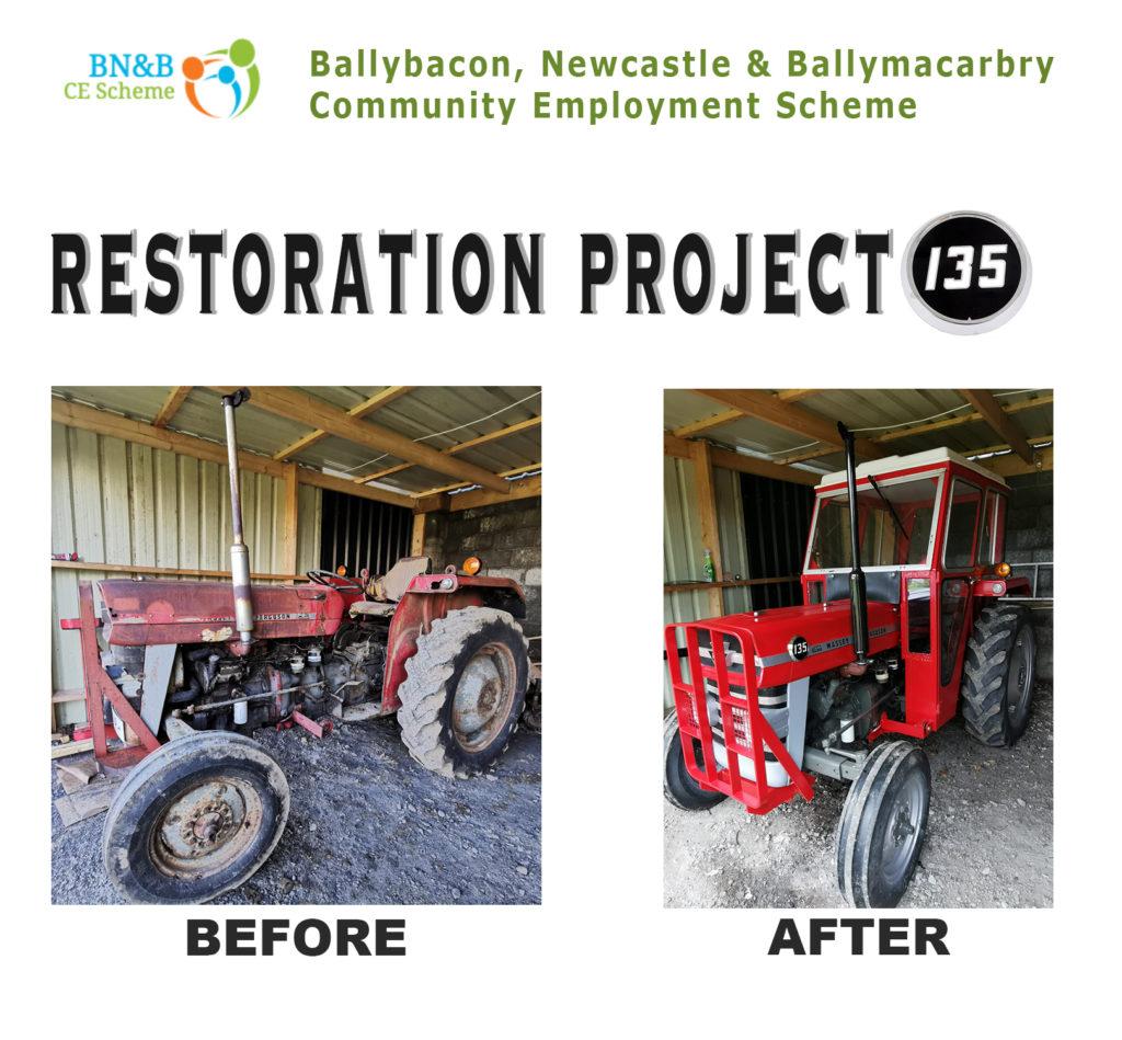 BN&B CE Scheme restoration work Massey Ferguson 135 July 2020