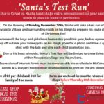 BIG NEWS: Santa's Test Run through Newcastle poster