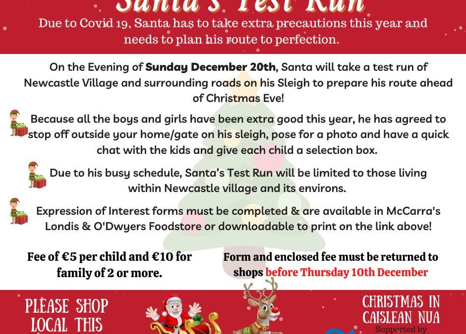 BIG NEWS: Santa's Test Run through Newcastle