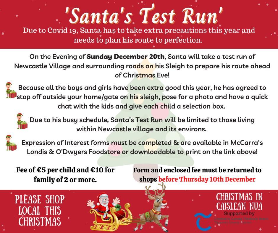 BIG NEWS: Santa's Test Run through Newcastle poster