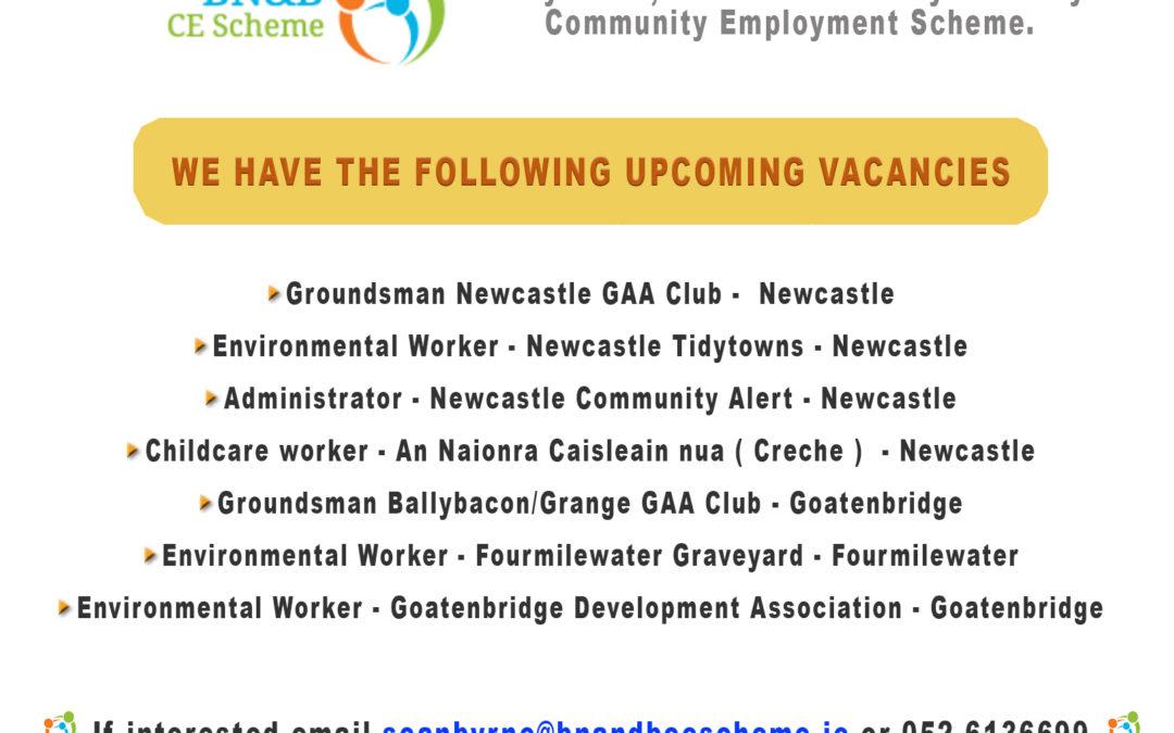 Upcoming BN&B CE Scheme Vacancies
