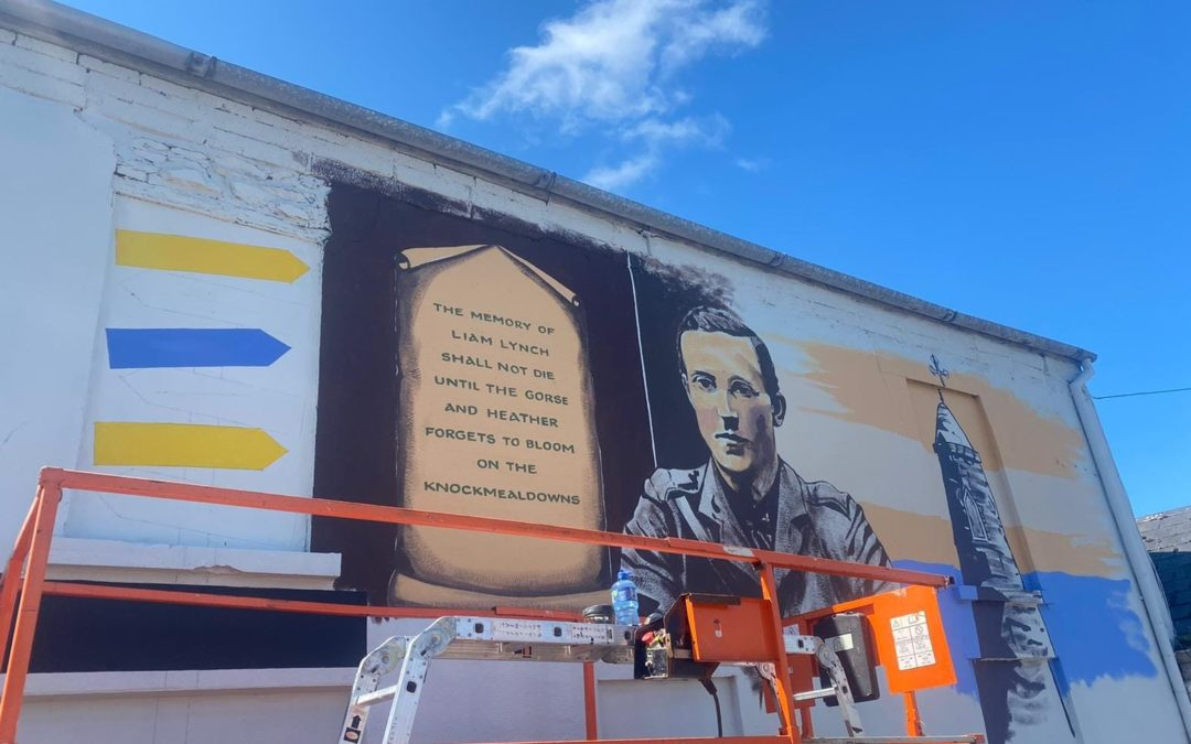 UPDATE: 6th August – Mural being painted on Devaney's Shed Wall.